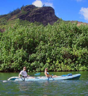 Kayakers on the Wailua River